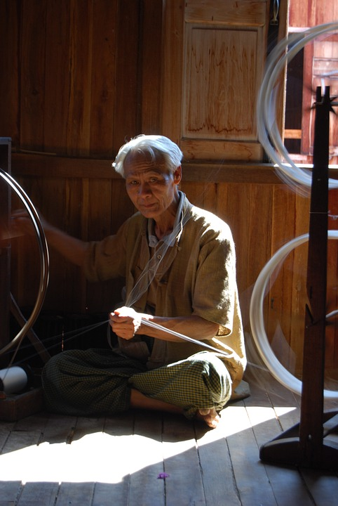 traditional silk spinning