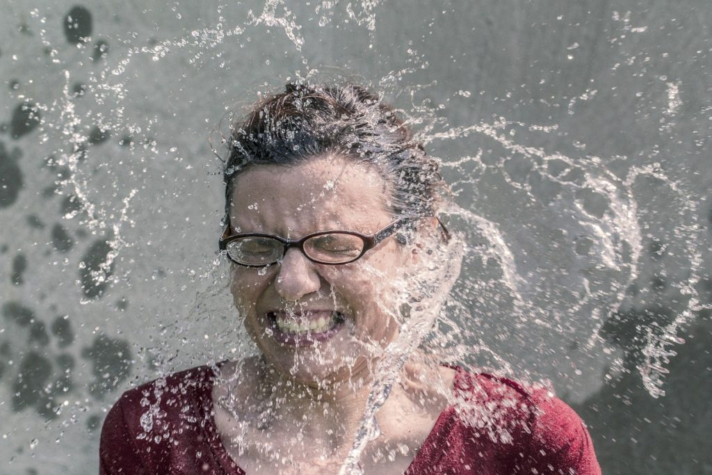 woman cooling down